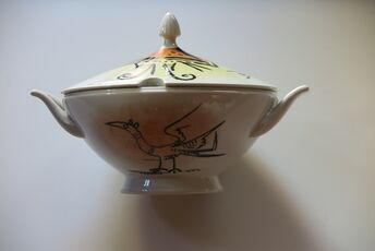 """Porcelana di Albisola - 10"""" soup tureen with cover"""