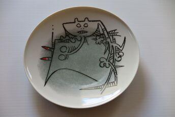 """Ceramica di Albisola - 9"""" plate I"""