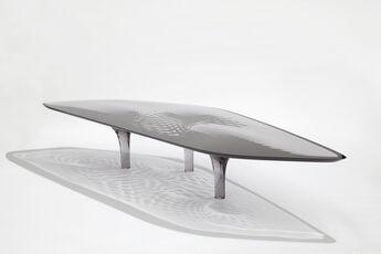 Coffee Table 'Liquid Glacial' Colour