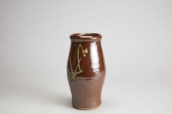 Vase, persimmon glaze