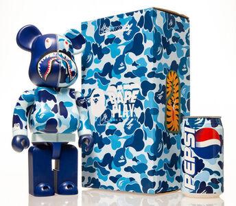 BE@RBRICK, 'Shark Hoddie 400% with BAPE Pepsi Cans (Blue)', 2001; 2015