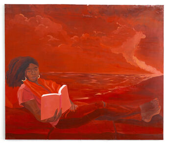 Dominic Chambers, 'Her Softness in Red (Grace Lynee Haynes)', 2020