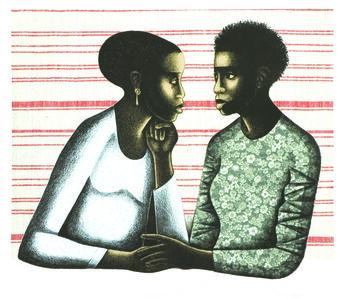 Elizabeth Catlett, 'Gossip', 2005
