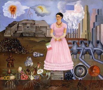 Frida Kahlo, 'Self-Portrait on the Border Line Between Mexico and the United States', 1932