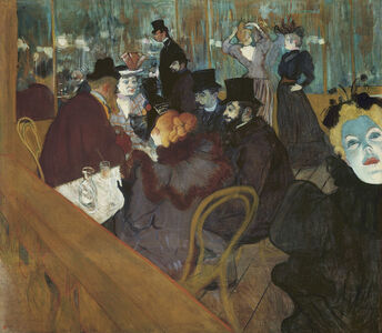 Henri de Toulouse-Lautrec, 'At the Moulin Rouge', 1892-1895