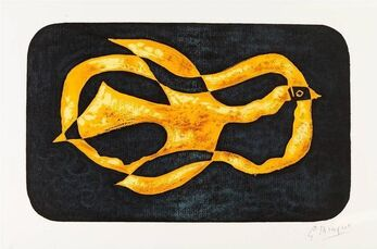"""Lithograph """"Antiboree"""" after Georges Braque"""