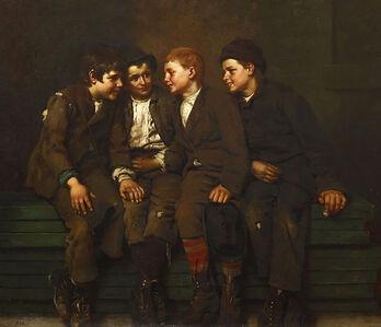 John George Brown, 'The Confab', 1882