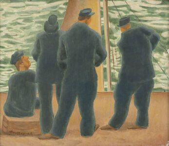 Horace Ascher Brodzky, 'Men on a Boat', 1946