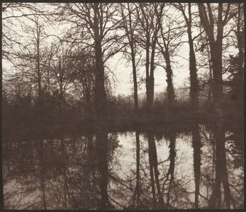 William Henry Fox Talbot, 'Winter Trees Reflected in a Pond', 1841-1842