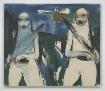Rita Ackermann, 'Restlesness and angry optimism', 2002