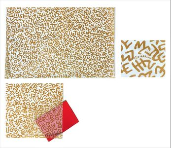 Keith Haring, 'POP Shop NYC, 1980's, Trash (rice) Paper for Purchases', 1980-1995