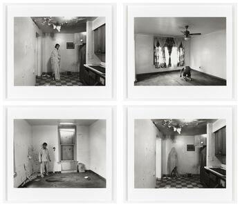 LaToya Ruby Frazier, 'Home Body Series: Wrapped In Gramps' Blanket, In Grandma Ruby's Velour Bottoms, In Gramps' Pajamas, Covered In Gramps' Blanket', 2010