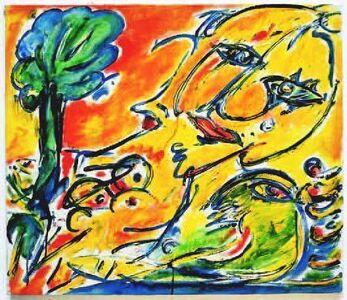 Carl-Henning Pedersen, 'No title, Molesmes', 1985