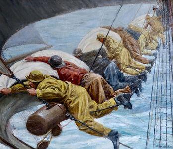 Anton Otto Fischer, 'Fishermen Battling Heavy Seas', 20th Century