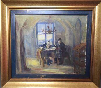 Leonid Balaklav, 'Scribe and Scholar, Judaic Oil on Canvas', 20th Century