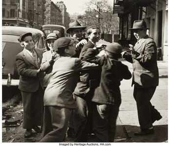 Martin Elkort, 'Choosing Sides from the series Yashiva Boysk and Hand Ball, Queens, New York (two photographs)', circa 1946