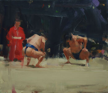 David Shevlino, 'Bowing Sumos', 2014