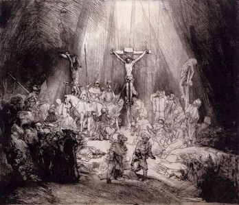 Rembrandt van Rijn, 'Three Crosses (First State)', 1653