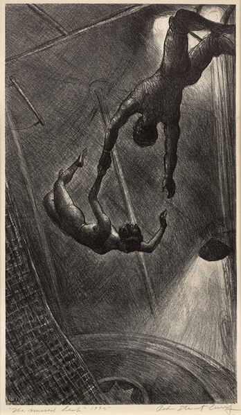 John Steuart Curry, 'The Missed Leap', 1935