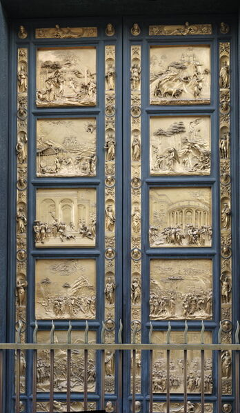 Lorenzo Ghiberti, 'Baptistry of S. Giovanni (view of Gates of Paradise)', 1425 -1452