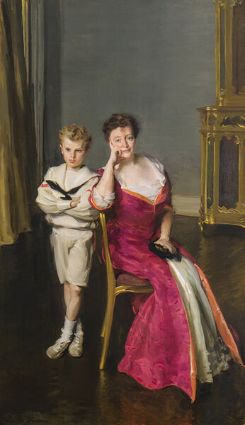 Cecilia Beaux, 'Mrs. John Frederick Lewis and Son, John Frederick Lewis, Jr.', 1908