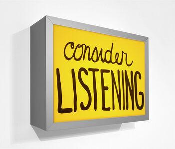 Sam Durant, 'Consider listening', 2018