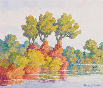 Birger Sandzén, 'Autumn Harmony (Smoky Hill River, Kansas)', 1947