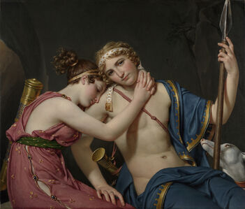 Jacques-Louis David, 'The Farewell of Telemachus and Eucharis', 1818