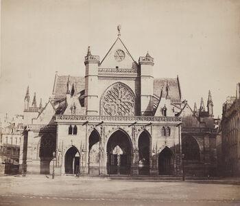 Gustave Le Gray, 'Church of Saint-Germain-l'Auxerrois, Paris', 1857/58