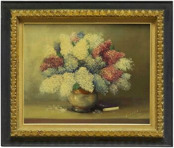 Eric Linnell, 'Vase of Flowers with Book, Interior Scene', Mid-20th Century