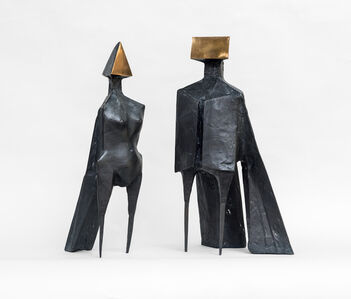 Lynn Chadwick, 'Maquette V, Two Winged Figures', 1973