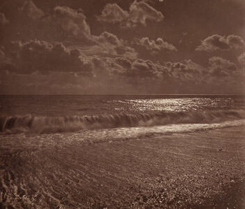 Colonel Henry Stuart-Wortley (attributed to), 'Moonlight-at-Yarmouth', 1870s