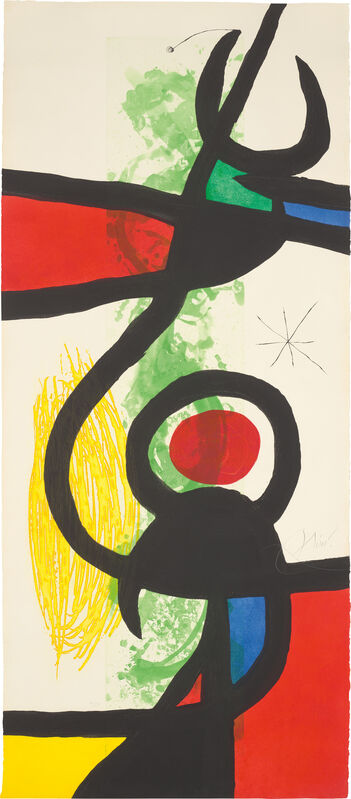 Joan Miró, 'Les Grandes Manœuvres (The Great Manoeuvres)', 1973, Print, Etching and aquatint with carborundum in colours, on Arches paper, the full sheet., Phillips
