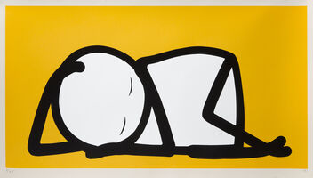 Stik, 'Sleeping Baby (Yellow)', 2015
