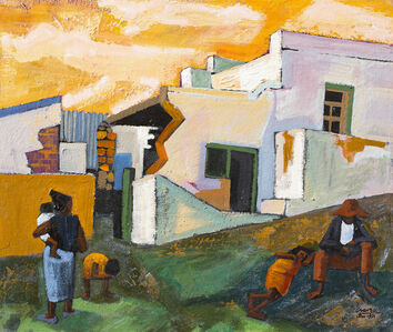 Peter Clarke (1929-2014), 'Ruined Houses at Simon's Town, C.P. (Wesley Street)', 1971