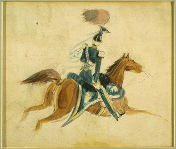 Constantin Guys, 'Man on Horseback'
