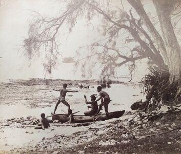 Charles Georges Spitz, 'Tahitien pêchant au harpon dans les reifs à Afaahiti', 1889