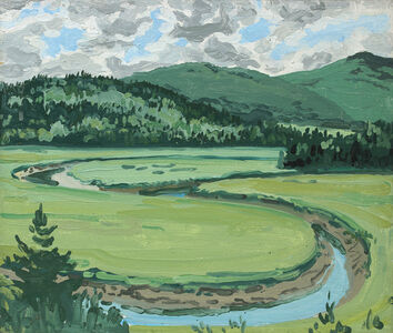 Neil G. Welliver, 'Study for Untitled Brigg's Meadow', 1970