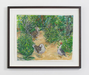 Beth Secor, 'Two African Snow Geese and a Startled Muscovy', 2014