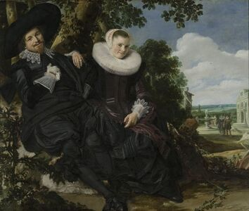 Frans Hals, 'Portrait of a Couple, Probably Isaac Abrahamsz Massa and Beatrix van der Laen', ca. 1622