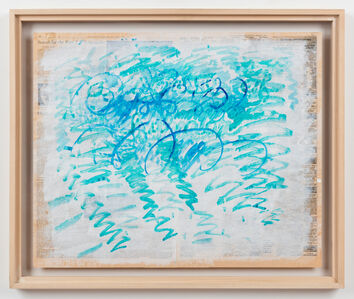 Paul Thek, 'Untitled (Blue Zig-Zags)', 1988