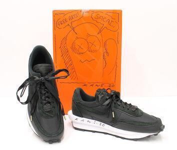 Sacai, 'KAWS Customized Nike x Sacai Black LDWaffle Sneaker, Spring 2020', 2020
