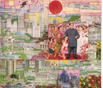 Pierre Bessard, 'Collage No.27 - Red Sun', 1992
