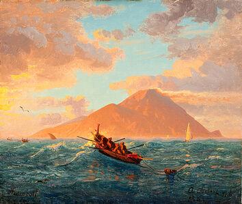 Andreas Achenbach, 'Stromboli', 1844