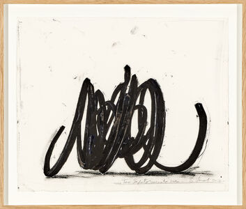 Bernar Venet, 'Two indeterminate lines', 2013