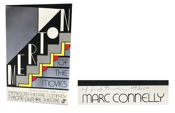 """""""Merton of the Movies"""", SIGNED/Numbered Edition 119/450, Minnesota Theatre Company Tyrone Gutre Theatre Poster"""