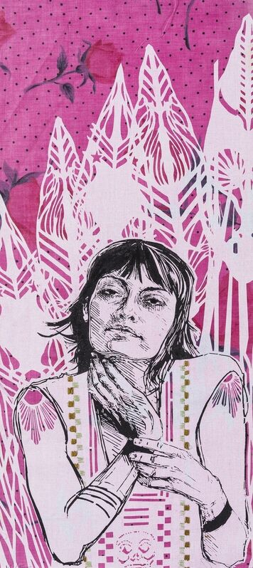 Swoon, 'Irina', 2012, Textile Arts, Screenprint on fabric printed in colours with embroidery, Forum Auctions