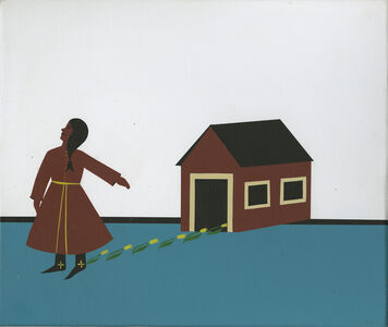 Clare E. Rojas, 'Untitled (Lady and Barn)', 2009