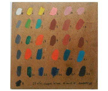 Osvaldo Romberg, '26 Color Shapes between A and A', 1975
