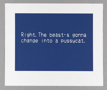 Sharon Hayes, 'The Nature of the Beast, Pussycat', 2019